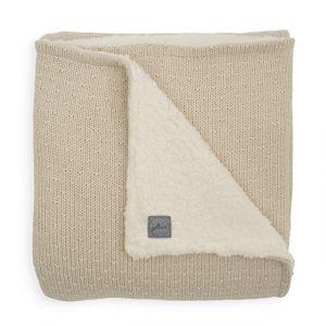 Deken Wieg Jollein 75x100 Teddy Bliss Knit Nougat