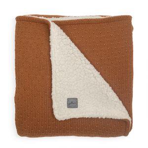 Deken Ledikant Jollein 100x150 Teddy Bliss Knit Caramel