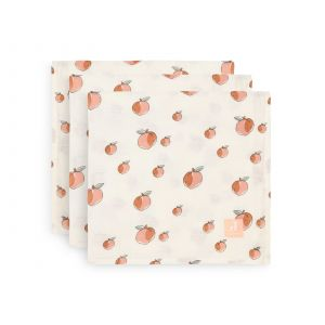 Multidoek Jollein Hydrofiel Peach 3-pack