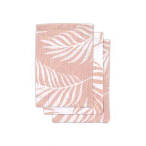 Washandjes Jollein Hydrofiel 3st Nature Pale Pink