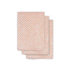 Washandjes Jollein Hydrofiel 3st Snake Pale Pink