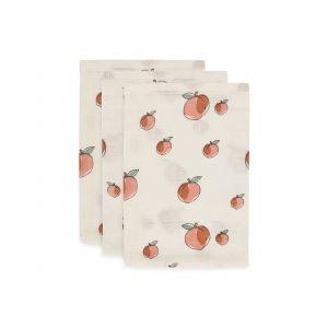 Washandjes Jollein Hydrofiel Peach 3-pack