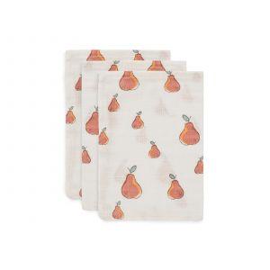 Washandjes Jollein Hydrofiel Pear 3-pack