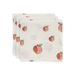 Monddoekjes Jollein Hydrofiel Peach 3-pack
