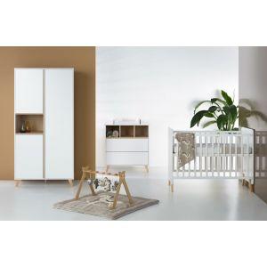 Babykamer Quax Loft White 2-deurskast