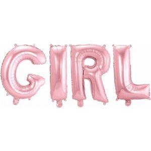 Ballonletters Baby Girl Roze