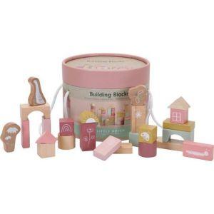 Houten Bouwblokken Little Dutch Pink