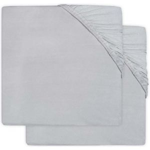Hoeslaken Wieg Jollein Jersey 40x80/90 Soft Grey 2-Pack 2511-501-00078