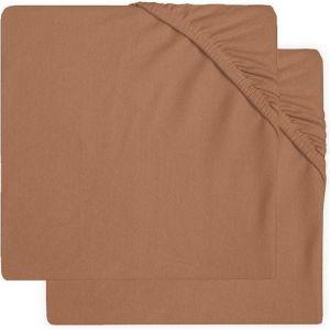 Hoeslaken Ledikant Jollein Jersey 60x120 Caramel 2-Pack 2511-507-00092