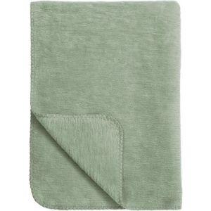 Deken Wieg Meyco Uni Stone Green