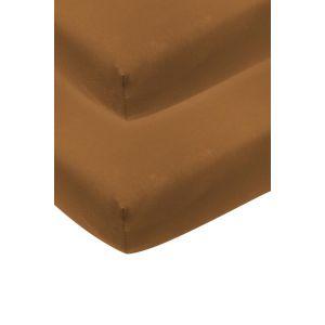 Hoeslaken Meyco 2st Wieg 40x80/90 Camel