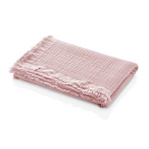 Deken Wieg BabyJem Muslin Pink 80x110