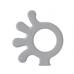 Bijtspeeltje BabyJem Octopus Grey