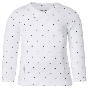 NOPPIES Shirt Lange Mouw Uni Anne White | Voorzijde