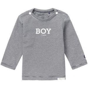 NOPPIES Shirt Lange Mouw Boys Newman Navy   Voorzijde