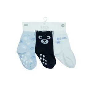 Set | Sokjes Antislip Olay Baby Blue 6-12mnd