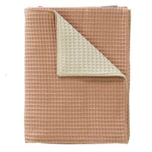 Deken Wieg Cottonbaby Wafel 2-zijdig Roze / Room