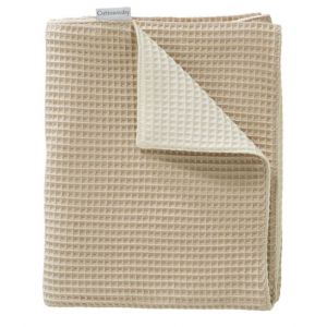Deken Wieg Cottonbaby Wafel 2-zijdig Zand / Room