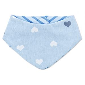 Bandana Slabber Babyjem Blue Hearts