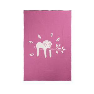 Deken Wieg Briljant Baby Jungle Dusk Pink 75x100cm
