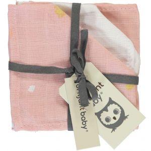 Monddoekjes Hydrofiel Briljant Baby Sunny 3st Pink