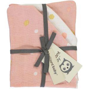 Washandjes Hydrofiel Briljant Baby Sunny 3st Pink