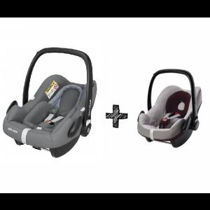 Autostoel Maxi-Cosi Pebble Pro I-Size Essential Grey + Beschermhoes + E-Safety Maxi-Cosi Smart Cushion