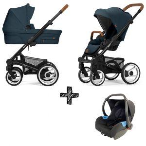 Kinderwagen Mutsy Nio 2021 - Adventure Ocean Blue Met Autostoel