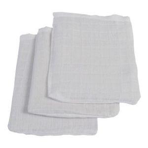 Washandjes Jollein Hydrofiel 3st Wit