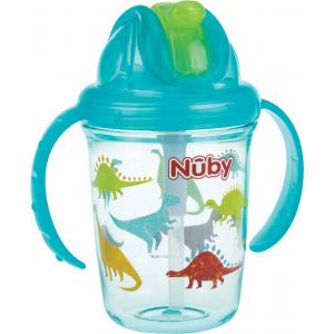 Antilekbeker Nuby Flip-It Tritan 240 ml Aqua 12 mnd.+