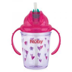 Antilekbeker Nuby Flip-It Tritan 240 ml Pink 12 mnd.+