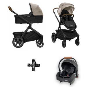 SET | Kinderwagen Nuna Demi Grow Timber + Autostoel Premium Granite Grey