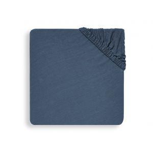 Hoeslaken Ledikant Jollein 60x120 Jersey Jeans Blue