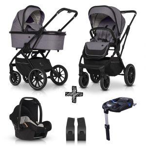 Kinderwagen Cavoe Axo Comfort Plum 4in1 + Gratis Wipstoel