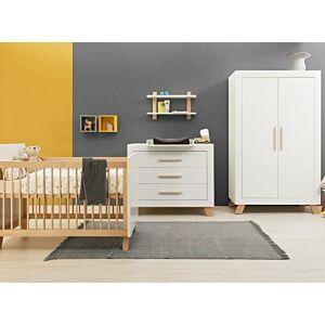 Babykamer Bopita Lisa (2-deurs) incl. Matras en Wandrek