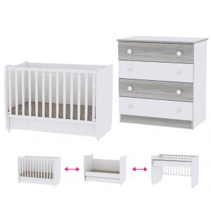 Babykamer Lorelli Dream 70x140 White (Ledikant + Commode)