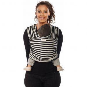 Draagdoek Tricot.Slen Stripes Black/White