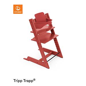 Kinderstoel Stokke® Tripp Trapp® Warm Red + Babyset