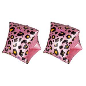 Zwembandjes Roze Panterprint 2-6 jaar