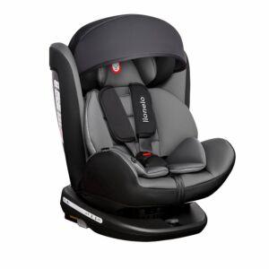 Autostoel Lionelo Bastiaan 0-1-2-3 Isofix Black/Grey 360°