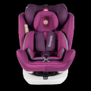Autostoel Lionelo Bastiaan 0-1-2-3 ISOFIX Violet 360°