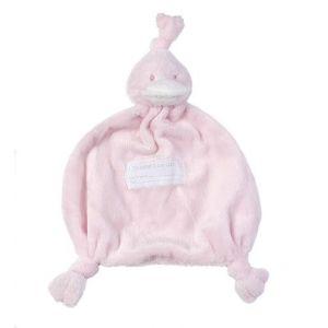 BamBam Knuffeldoek Eend Roze