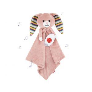 Knuffeldoekje ZAZU Baby Comforter Rabbit Becky Pink