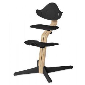 Kinderstoel Nomi Oak White + Black Zitting