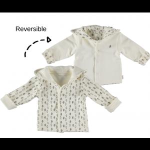 Jas Bess NOOS Jacket Hoody Reversible Dessin Leaf