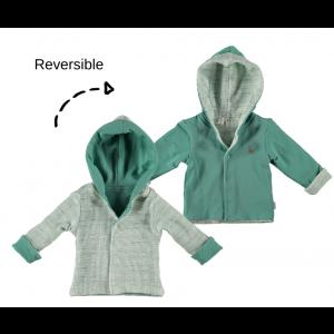 Jas Bess NOOS Jacket Hoody Reversible Green
