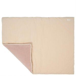 Boxkleed Koeka Vik Teddy Sand/Grey Pink 80x100