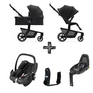 Kinderwagen Joolz Hub+ Brilliant Black met Autostoel & Base