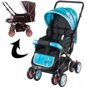 Kinderwagen/Buggy Johnson Snopy Black/Blue