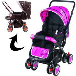 Kinderwagen/Buggy Johnson Snopy Black/Pink WW